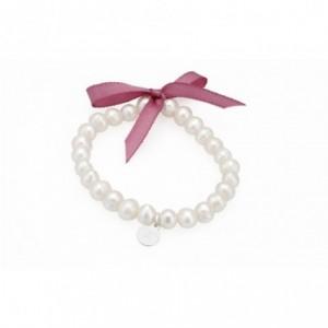 Pulsera de perlas con lazo