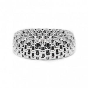 纯银镂空戒指