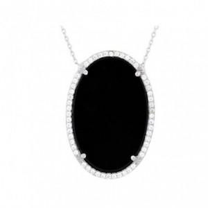 縞瑪瑙橢圓形項鍊