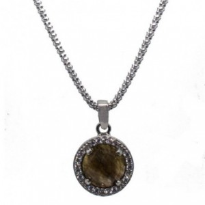 Silver necklace with...