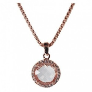 Rose gold necklace with...